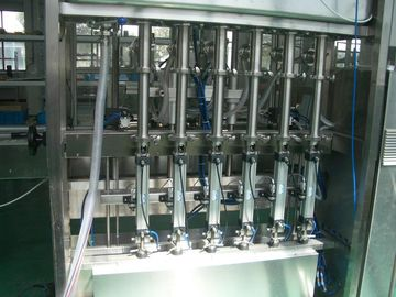 चीन 25 ~ 30 bpm Piston Filling Machine with 6 to 12 filling nozzles for Oil, Syrup & Detergent फैक्टरी