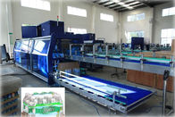 Full Automatic PE Film Heat Shrink Wrapper Liquid Packing Machine For Pet Bottle
