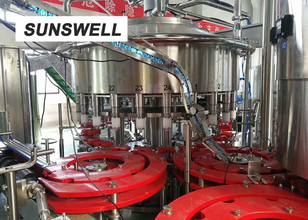 Aluminum Automatic Liquid Filling Sealing Machine Fabricated Of  Stainless Steel
