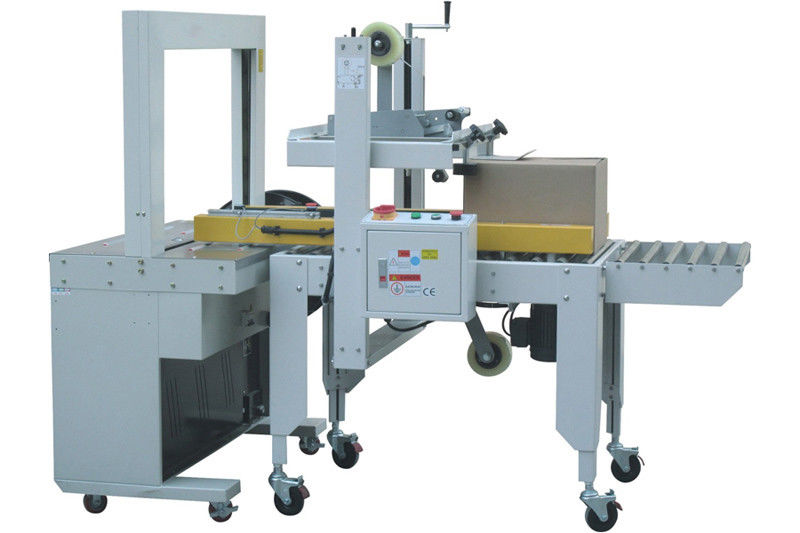 Carton Bottom Sealing Machine & Top Sealing Strapped Machine For Beverage Package