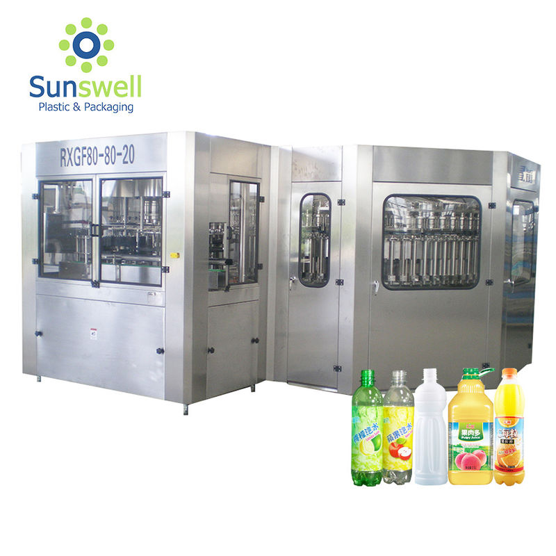 5000 BPH  Bottled Hot Filling Machine Beverage Or Juice Rinsing Sealing 3 In 1 Monoblock