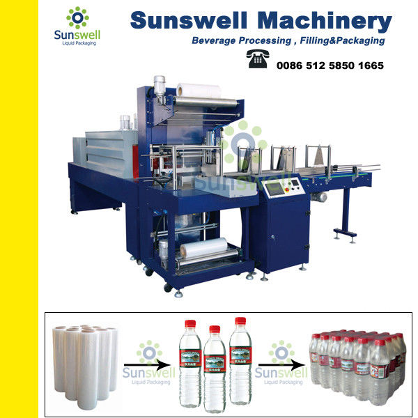 Safe 6 Bar Shrink Packaging Equipment For PET Bottles / Glass Bottles / Pop-top Cans आपूर्तिकर्ता