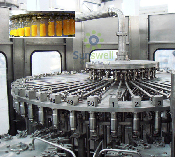 Pet Bottled Juice Filling Machine Automatic For Apple / Orange Juice Plant आपूर्तिकर्ता