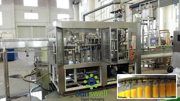 CE Certificated Monoblock Filling Machine 380V 50HZ for hot filling
