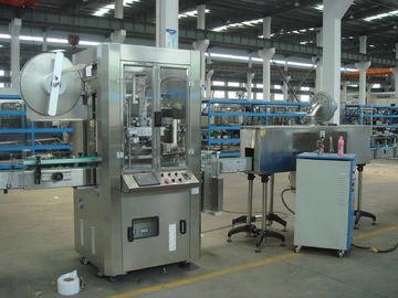 Automatic Sleeve And Shrink Labeling Machine (Shrink Sleeve for plastic square Bottles)