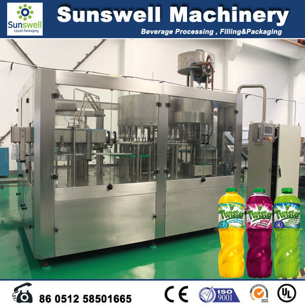 5.2KW carbonated drink filling machine / bottling equipments 9,000BPH (500ml) capability